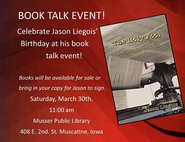 Musser March 30 appearance